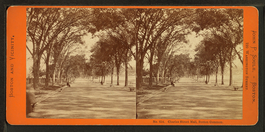 Charles Street Mall Boston Common by Soule John P. 1827 1904 3