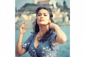 Salma Hayek during her time in Rovinj