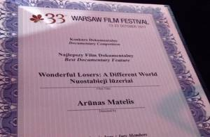 "'Wonderful Losers. A Different World"" by DGA-winner A. Matelis wins Best Documentary at Warsaw Film Festival"