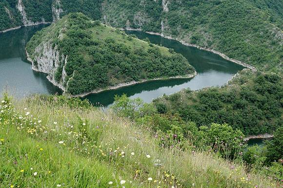 Landscape of the River Uvac in Serbia