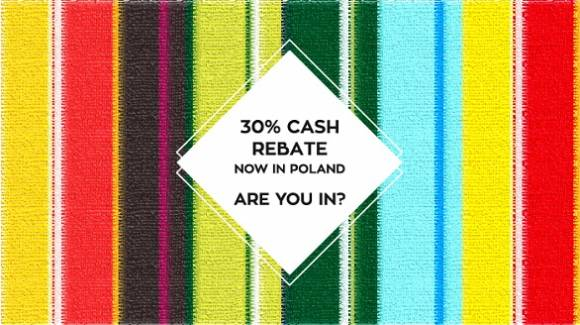 The Polish 30% cash rebate scheme is active now