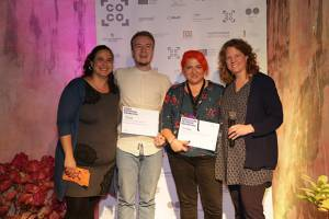The winner of the COCO BEST PITCH AWARD and COCO PRODUCERS NETWORK AWARD at Connecting Cottbus 2018: the Romanian project OCTOBER by director Cristian Pascariu and producer Oana Giurgiu from Libra Film Productions