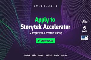 Open now - applications for the second round of Storytek Accelerator!