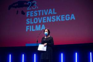 FSF director Jelka Stergel at the award ceremony