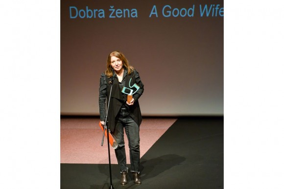 Mirjana Karanović receiving the  award for A Good Wife