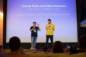 Young Tesla and Idea Poachers by Petar Orešković pitching