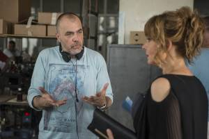 Nikola Kojo and Vesna Trivalić on the shoot of Stado