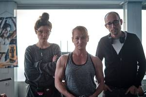 Anna Nemes, Eszter Csonka and László Csuja working on Gentle Monster